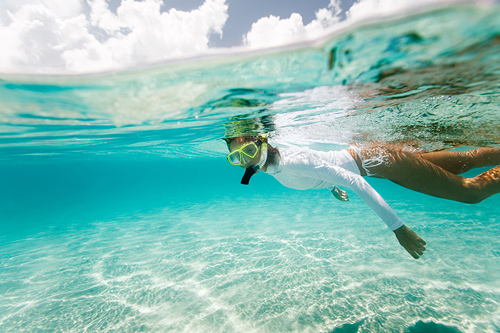 Snorkeling In The  lagoon